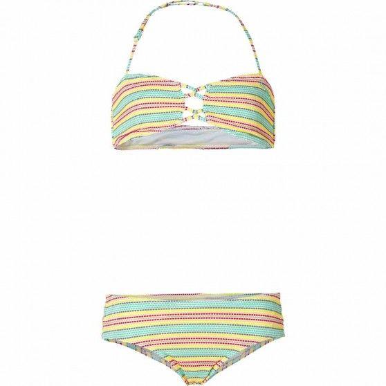 Deze #bikini van #O'Neill heeft een streepprint in zachte zomerkleuren. Leuke #bikini voor meisjes. #dws