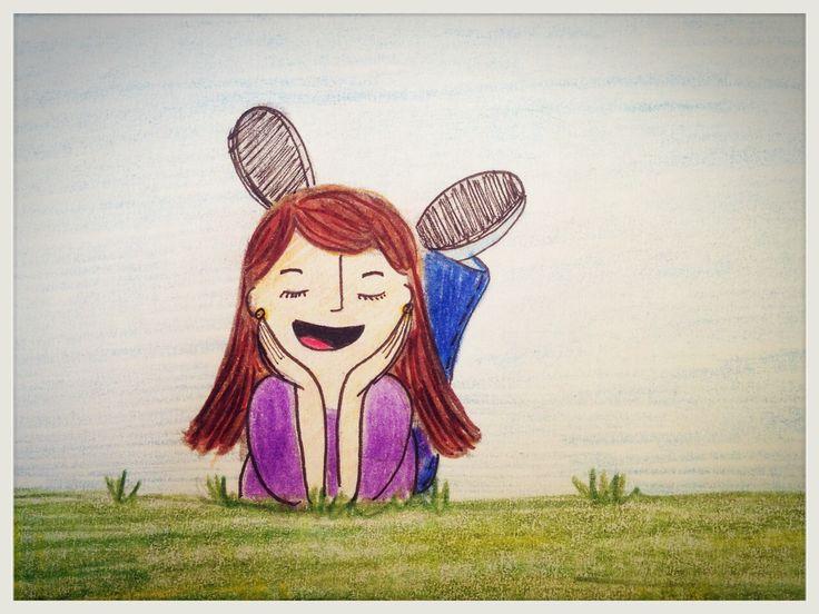 La actitud es ser feliz. Ilustración.