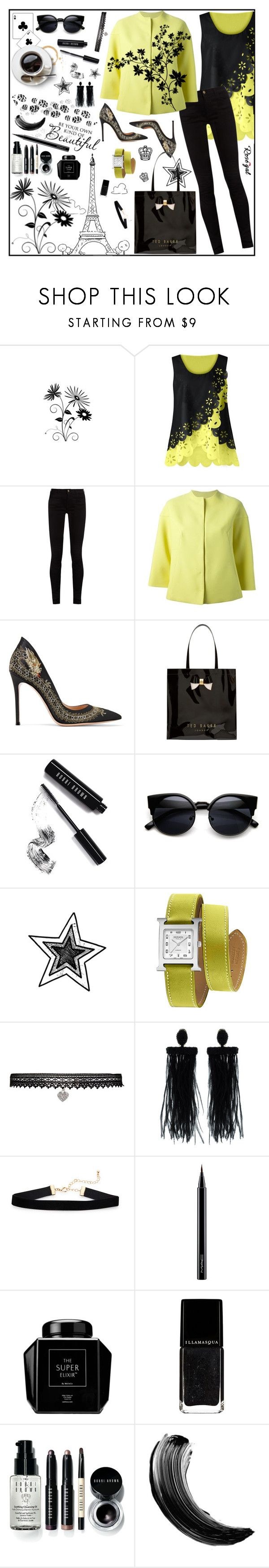 """Be your own kind of beautiful"" by dingonunnu ❤ liked on Polyvore featuring Gucci, Valentino, Gianvito Rossi, Ted Baker, Bobbi Brown Cosmetics, Hermès, Betsey Johnson, Oscar de la Renta, MAC Cosmetics and Maybelline"