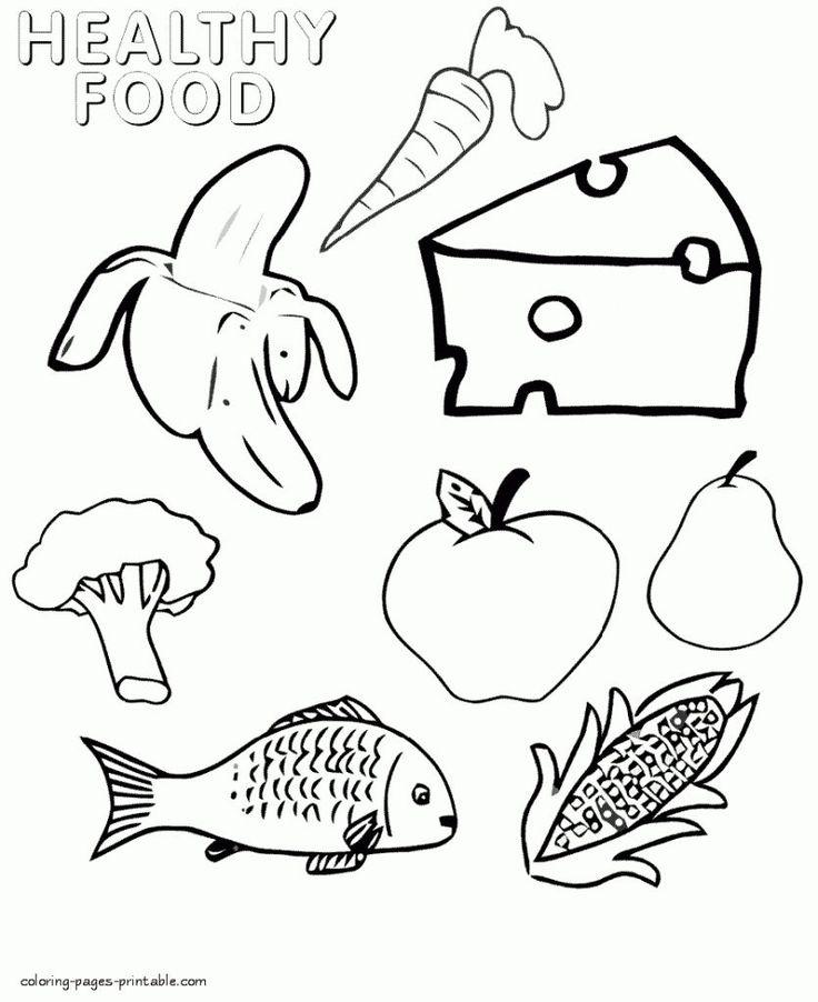 Раскраска полезные продукты