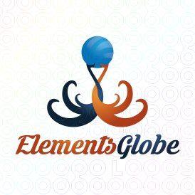 Exclusive Customizable Logo For Sale: Elements Globe | StockLogos.com https://stocklogos.com/logo/elements-globe