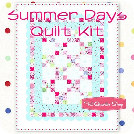 Summer Days Quilt Kit by Holly Holderman<BR>Featured in McCall's Quick Quilts June/July 2015 issue