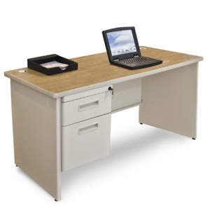 Discount office supplies Pronto Single Pedestal Desk