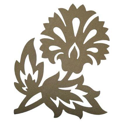 Flor De Lis Stencil | nº2 06968 set de 2 ornamentos 06969 ornamento de flor
