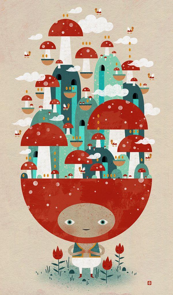 TOADSTOOL TAO by Jon Reinfurt // mushroom kingdom // magical land // trippy trip