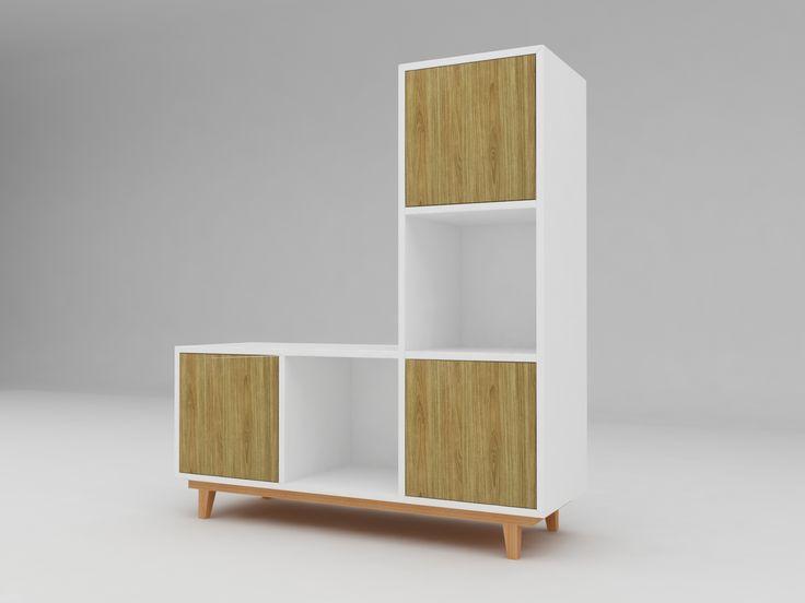 Minimalist modern furniture - Lemari Perabotan Dapur Minimalis - White Elegant Teak