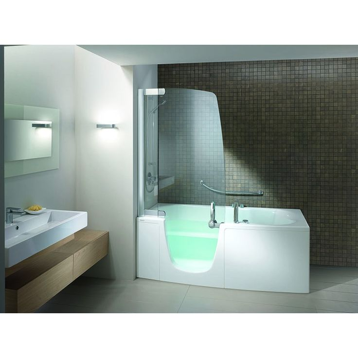 Teuco 382 combi units bath shower combinations for Big and tall walk in tubs