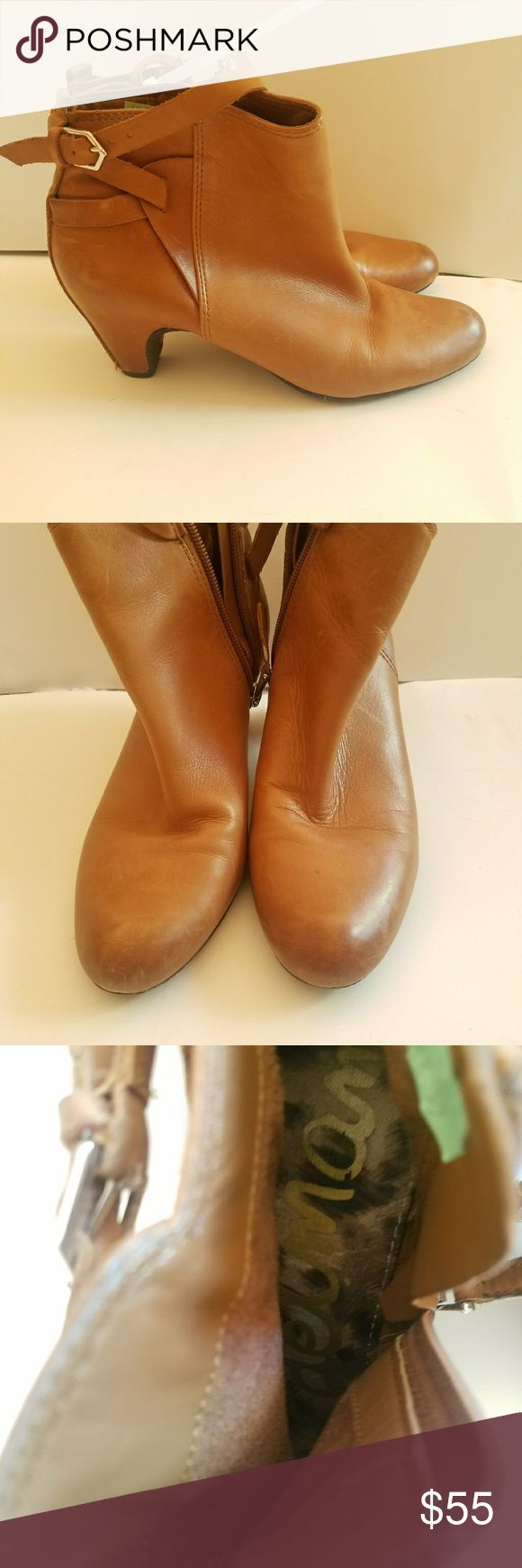 Sam Edleman Booties These are super soft leather with a rubber skid proof bottom.  Excellent Sam Edlenam craftsmanship.  Low heal to give you just the right amount of lift. :). Sam Edelman Shoes Ankle Boots & Booties