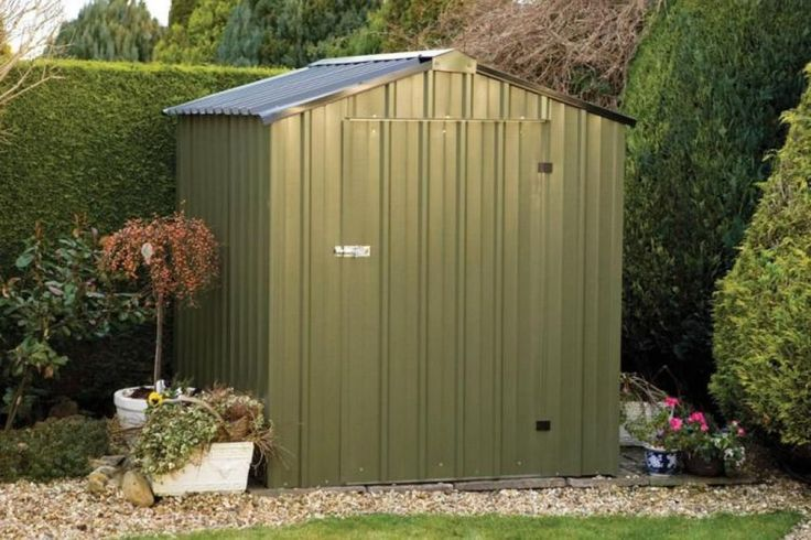 Metal Outdoor Shed  -  An outdoor shed can come in many shapes, sizes, and styles. Wood once was the go-to material for building a portable shed, but metal outdoor sheds are... Check more at http://www.xtend-studio.com/8477-metal-outdoor-shed/