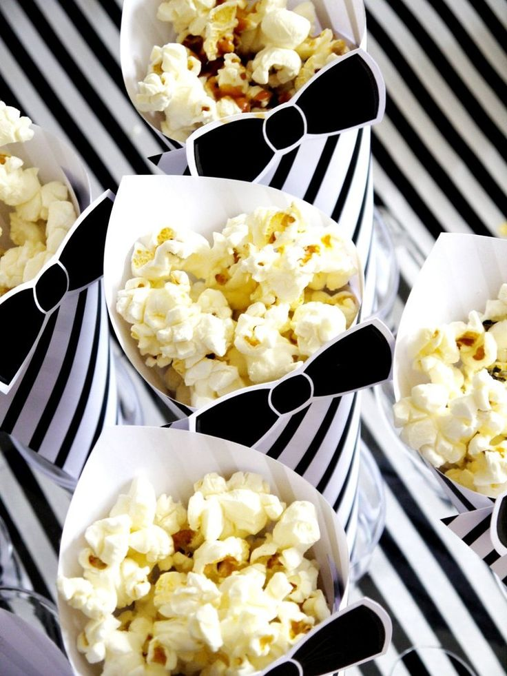 Popcorn Bar Party Printables Supplies & Decorations with Invites