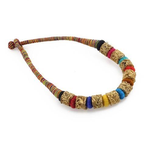 Black Color Brass Necklace Set - GCN858