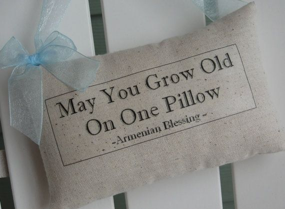 Armenian Blessing, Door Pillow, Personaized Gift, Quotes, Blue, Wedding Gift, Housewarming, Anniversary Gift, Inspirational. $16.95, via Etsy.