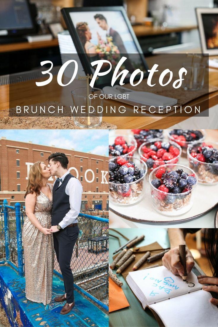 30 photos of a sweet little LGBT brunch wedding reception in Washington, DC via DopesontheRoad.com