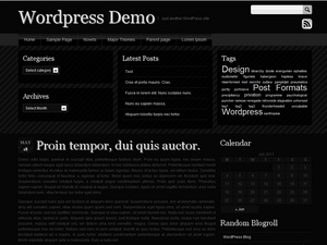 A clean and professional-looking theme in black. It is search-engine-optimized, gravater-supported, widget-ready, multi-browser-compatible. (Firefox, IE, and Google Chrome.) Comes with full-width page, post pagination, threaded/paginated comments, comments reply function, smooth scrolling, multi-level drop down menu, custom menu, and multiple widgetized area.