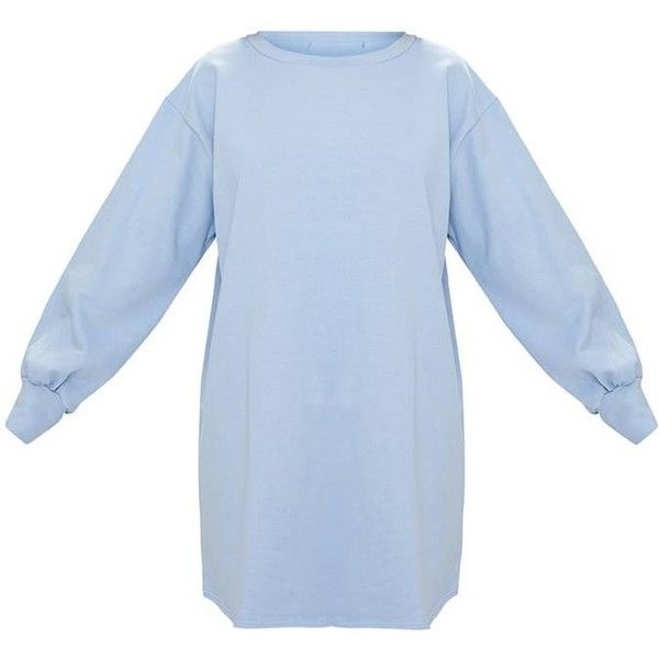 bf85831932 Powder Blue Oversized Sweater Dress (82 PEN) ❤ liked on Polyvore featuring  dresses