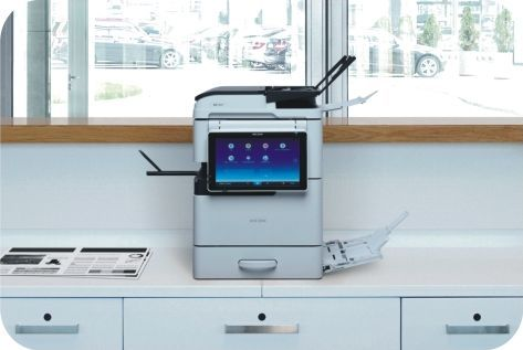 The MP 305+ SP is a smart, compact monochrome MFP with A3 capability that is ideal for small to medium-sized offices. With a printing speed of 30 ppm and great usability functions like the Smart Operation Panel, the machine is versatile, quiet, and ideal for those seeking inexpensive A3 printing solutions, without losing valuable office space that a traditional A3 MFP would occupy.     monochrome-mfp-imageKey features of MP 305+ SP include: ◾Super compact design ◾A3 print, copy, scan and fax…