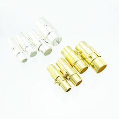 5x Magnet Bajonettverschluss 3 4 5 6 mm Band silber o. gold Sicherheit   Magnetverschlüsse   Verschlüsse   günstig kaufen bei Bacabella.com Schmuckherstellung   Perlen, Schmuck und Schmuckzubehör zum Schmuck selber machen   Schmuck basteln DIY DoItYourself
