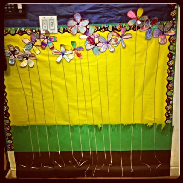 Classroom Organisation Ideas ~ Preschool class flower height chart themes and