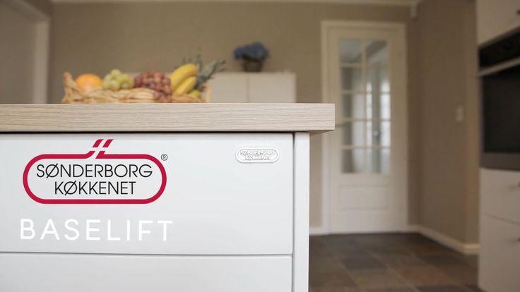 BASELIFT - Se den fantastiske nyhed. Hele køkkensektioner kan hæves/sænkes, så den arbejdshøjden passe til dig.
