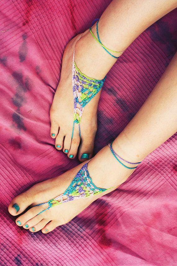 Handmade Crochet Barefoot Sandals