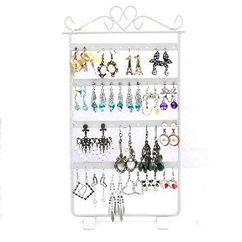 Sale Preis: Sannysis 48-Loch-Ohrring Display Rack Metall Stand Inhaber Showcase (weiß). Gutscheine & Coole Geschenke für Frauen, Männer & Freunde. Kaufen auf http://coolegeschenkideen.de/sannysis-48-loch-ohrring-display-rack-metall-stand-inhaber-showcase-weiss  #Geschenke #Weihnachtsgeschenke #Geschenkideen #Geburtstagsgeschenk #Amazon
