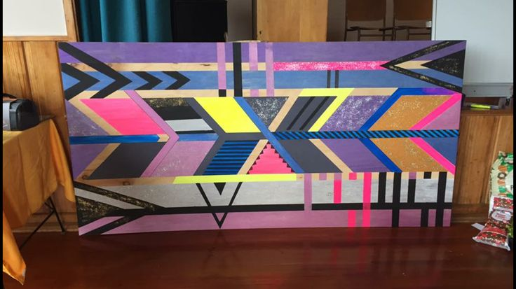 Art piece I made together with my class. The wonders of painters tape