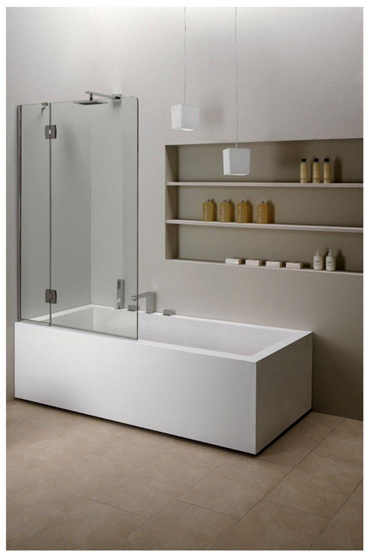 CALIBE On Bath Panel Pivotant Modèle Pivotant Verre Acidé