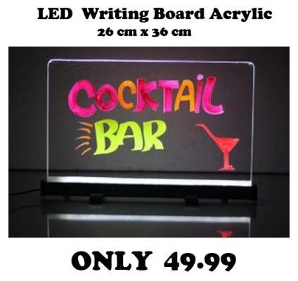 Tableau LED Lumieux 26 x 38 CM ACRYLIQUE
