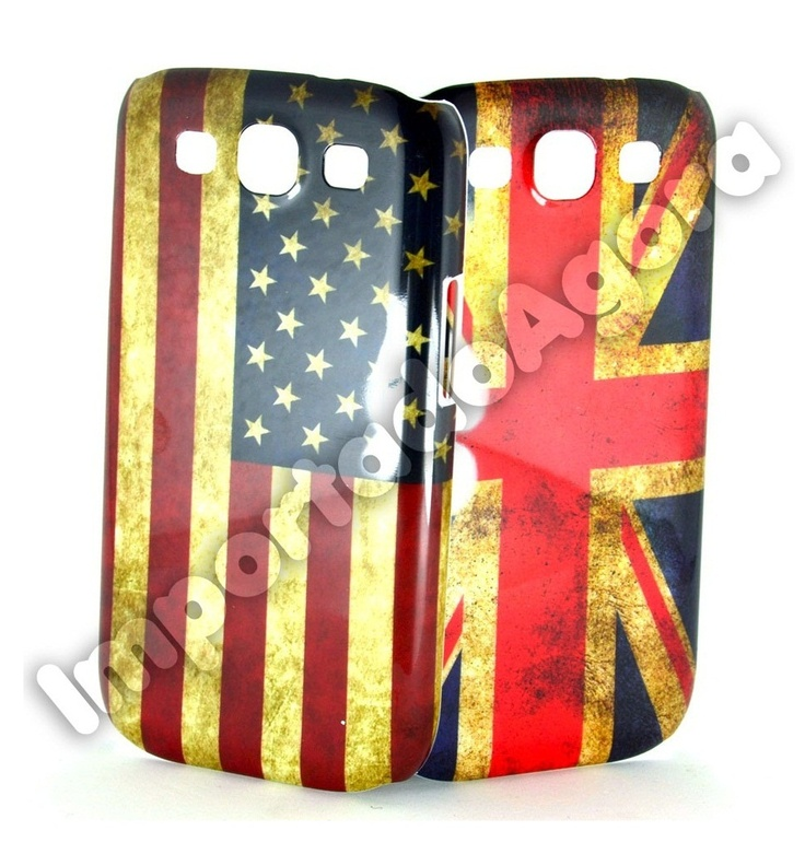 Capa Rígida - Bandeiras Retrô Reino Unido ou EUA Galaxy S3 I9300 - Para mais informações clique na imagem :)