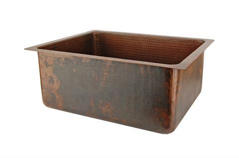 508mm Hammered Copper Kitchen/Bar/Prep Single Basin Sink