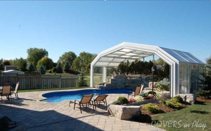 Use your pool all year long! We design and manufacture Fixed and Retractable Pool Enclosures. Have a look at http://www.coversinplay.com/design.html  #Pool #PoolEnclosure #Climate #PoolCover #Cover #Enclosure #SwimmingSeason #IndoorPools #SwimmingPool