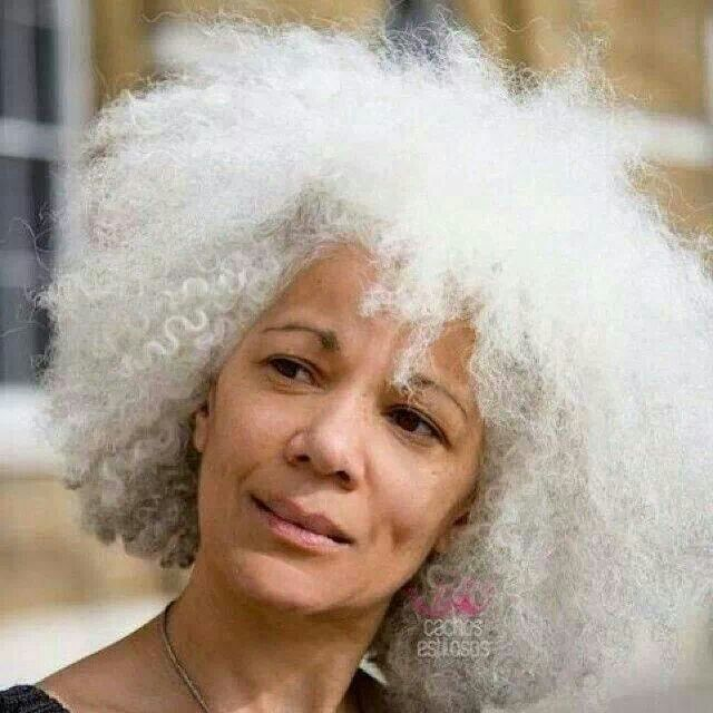 Black Women With White Hair Images & Pictures - Becuo