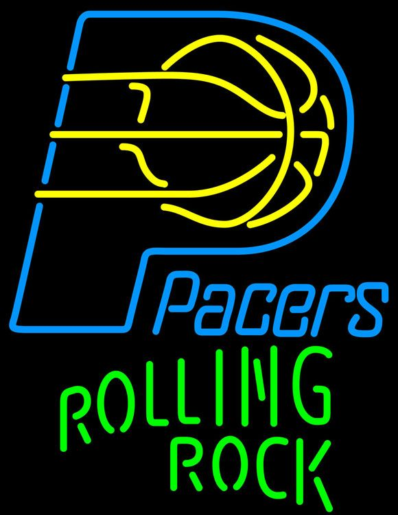Rolling Rock Single Line Logo Indiana Pacers NBA Beer Neon Sign, Rolling Rock with NBA Neon Signs | Beer with Sports Signs. Makes a great gift. High impact, eye catching, real glass tube neon sign. In stock. Ships in 5 days or less. Brand New Indoor Neon Sign. Neon Tube thickness is 9MM. All Neon Signs have 1 year warranty and 0% breakage guarantee.