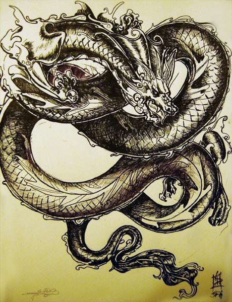 die besten 17 ideen zu chinesische drachen tattoos auf. Black Bedroom Furniture Sets. Home Design Ideas