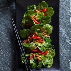 Spinach Salad with Japanese Ginger Dressing - EatingWell.com