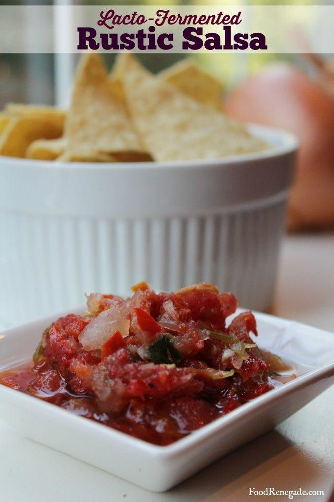 lacto-fermented rustic salsa.