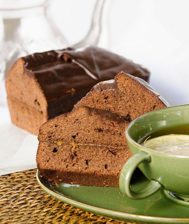 Κέικ σοκολάτας με πραλίνα και γλάσο