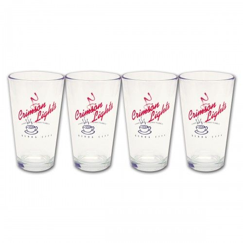 The Young and the Restless Crimson Lights Pint Glasses Set