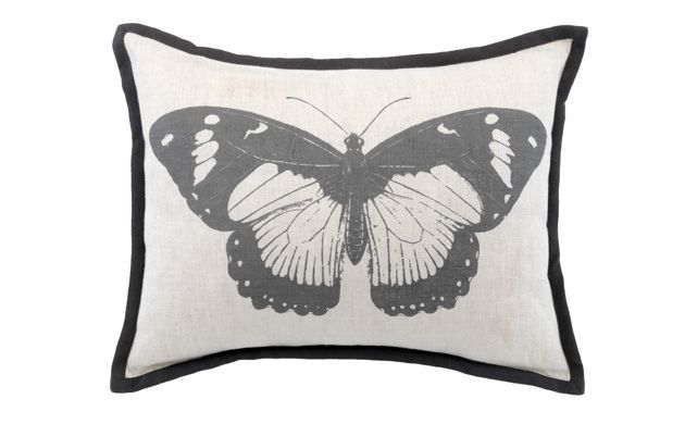 Butterfly Print Cushion