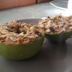 I love this simple Apple & Peanut Butter Snack.