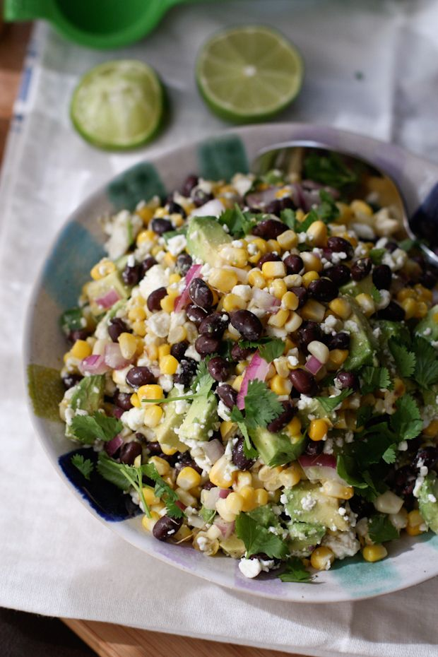 Just made something very similar to this, it is so good! Summer Black Bean and Corn Salad   Aggie's Kitchen