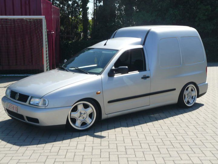 vw caddy mk2 on schmidt modern line wheels caddy pinterest vw wheels and custom vans. Black Bedroom Furniture Sets. Home Design Ideas