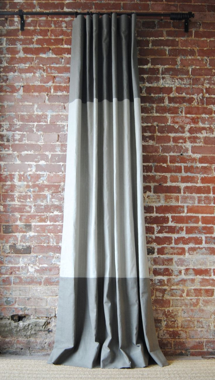 Martha Drapery Panel - A color block drape offered in 28 color combos!