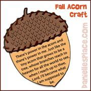 Fall Acorn Craft for Kids from www.daniellesplace.com