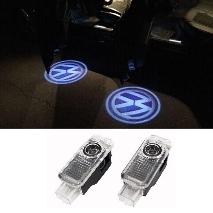 2pcs LED Door Warning Light For VW Logo Projector For Volkswagen VW Phaeton Passat B5