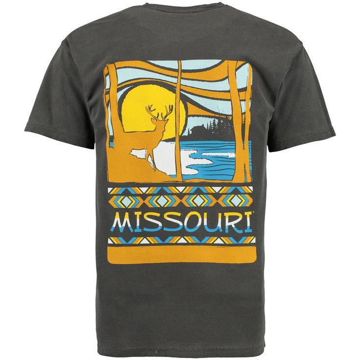 College Missouri Tigers Scenic Comfort Colors T-Shirt - Black