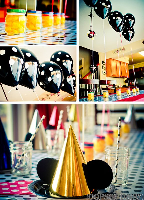 Totally making these party hats for Nick's 6th birthday party!  It's a Mickey party and I hope I do it justice.  I'll take pics after!