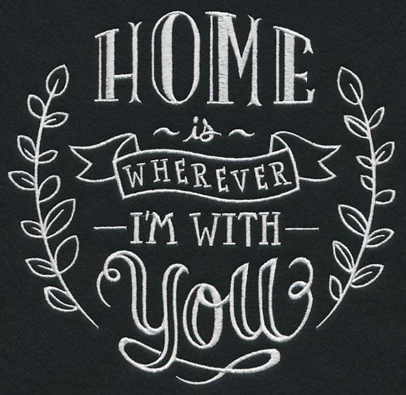 EMBL Home Is Wherever Iu0027m With You Sampler Chalkboard