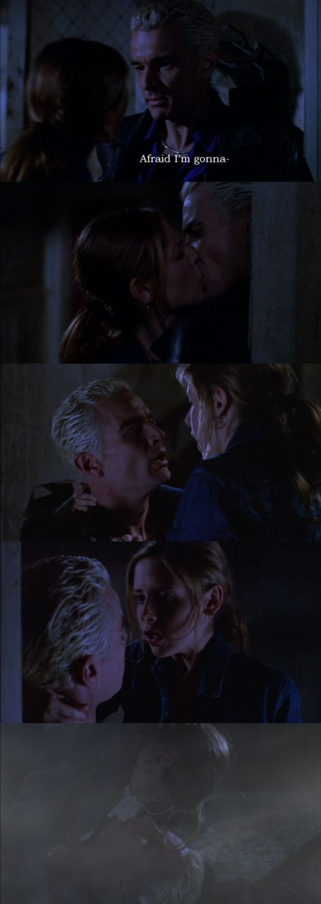 Buffy and Spike from Buffy the Vampire Slayer.