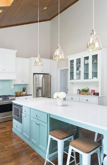 132 best tiffany blue kitchen decor ideas images on for Tiffany blue kitchen ideas